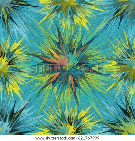 unusual seamless pattern with