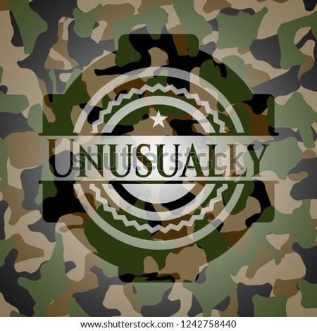 Unusually camouflage emblem