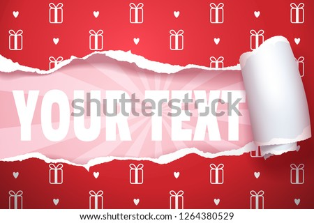 Unwrapped gift with copy space, separate to layers easy to edit, vector art and illustration.