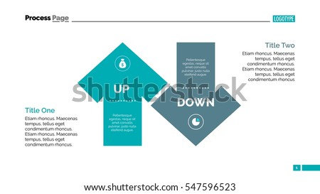 Up and Down Arrow Diagram Slide Template