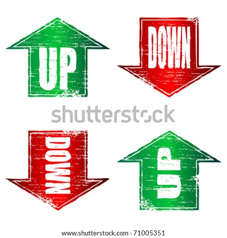 Up and Down Arrows grunge stamps
