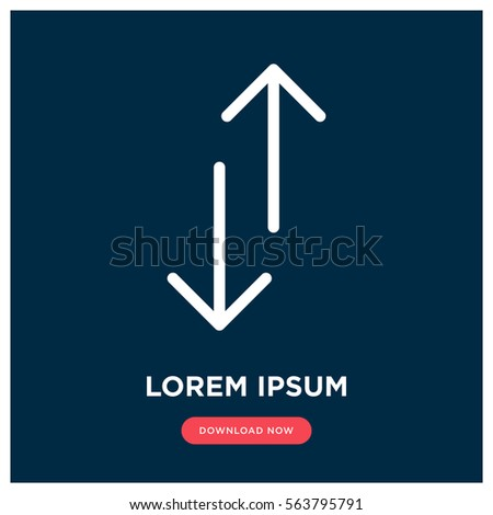Up and down vector icon, arrow symbol. Modern, simple flat vector illustration for web site or mobile app
