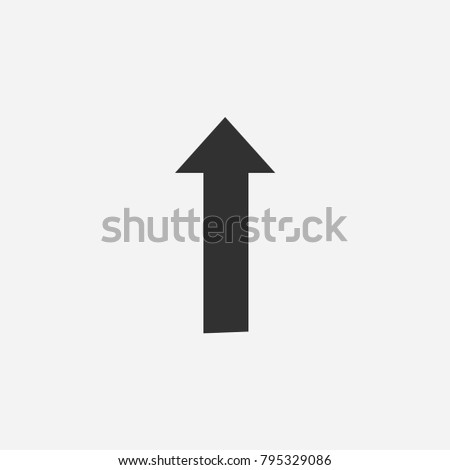 Up arrow icon illustration isolated vector sign symbol