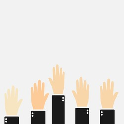 up hand. vector illustration