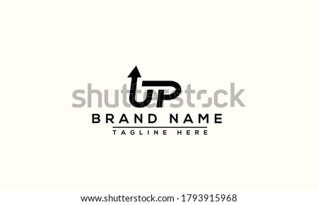UP Logo Design Template Vector Graphic Branding Element. Stockfoto ©