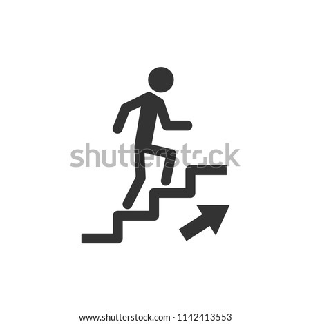 up the stairs public signature icon vector eps 10