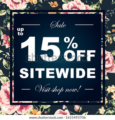 up to 15  off sale advertising