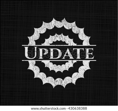 Update chalkboard emblem on black board