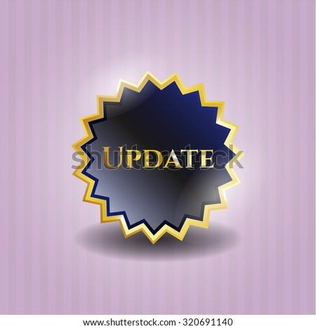 Update gold shiny emblem