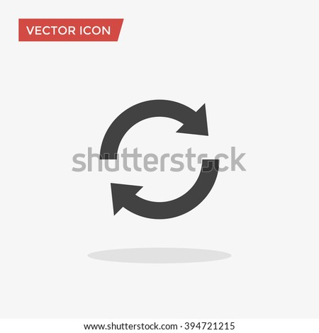 Update Icon in trendy flat style isolated on grey background. Refresh symbol for your web site design, logo, app, UI. Vector illustration, EPS10.