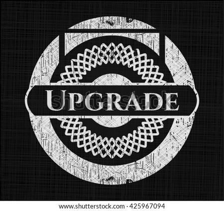 Upgrade chalkboard emblem on black board