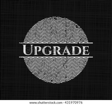 Upgrade with chalkboard texture