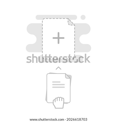 upload, drag and drop here, add new file concept illustration flat design vector eps10. modern graphic element for landing page, empty state ui, infographic, icon