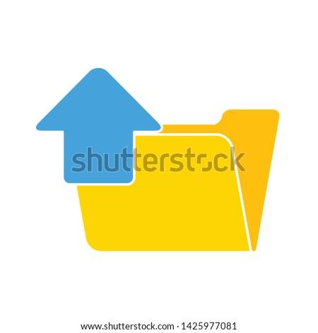 upload folder icon. flat illustration of upload folder vector icon for web