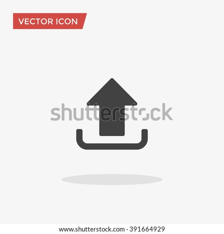 Upload Icon in trendy flat style isolated on grey background, for your web site design, app, logo, UI. Vector illustration, EPS10.