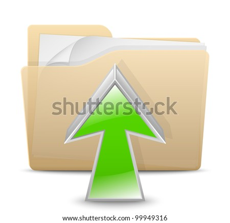 Upload Icon. Vector Illustration