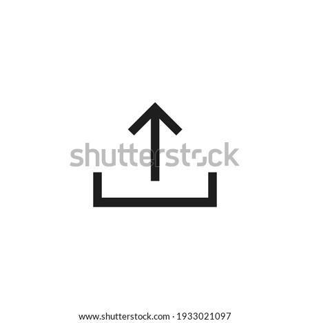 Upload icon vector. Simple upload sign
