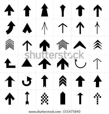 Upper Arrow Icons set