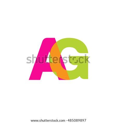 uppercase ag logo  pink green