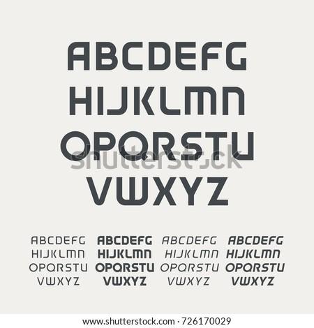 uppercase alphabet futuristic