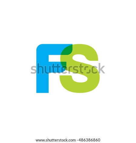 uppercase fs logo  blue green