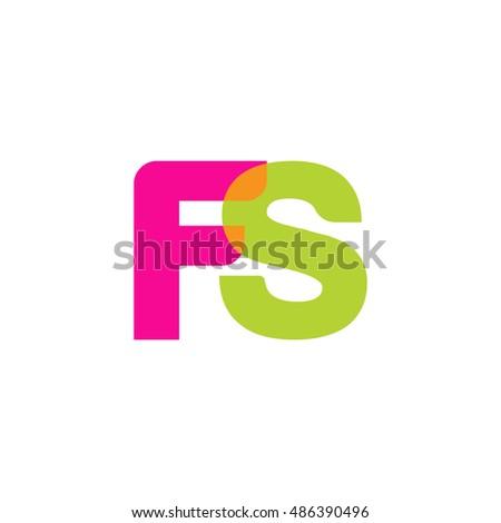 uppercase fs logo  pink green
