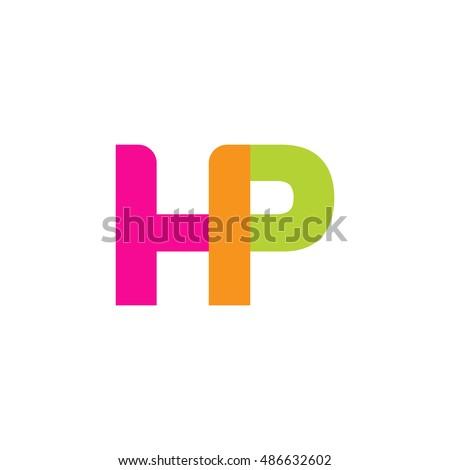 uppercase hp logo  pink green