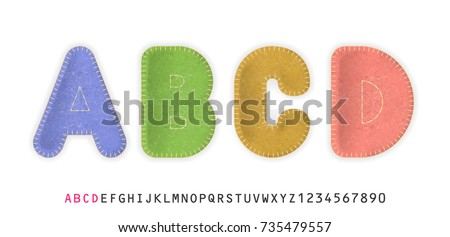 uppercase realistic letters a
