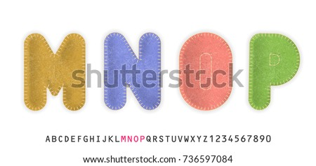 uppercase realistic letters m