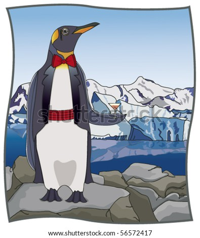 Upscale Penguin - Click on my portfolio for more images in this series