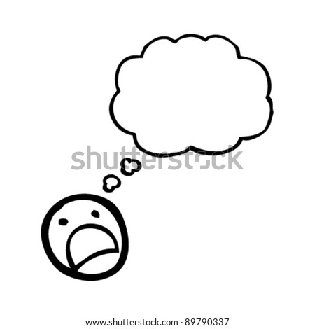 upset emoticon face cartoon - stock vector