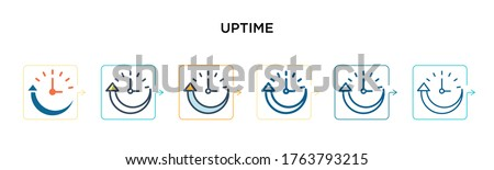uptime vector icon in 6