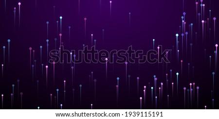 Upward glowing line beams speed motion concept. Tech neon purple radiance elements. Social science vertical lines innovative design. Speed motion modern backdrop.