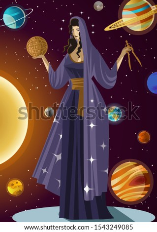 urania greek mythology astronomy and science muse Zdjęcia stock ©