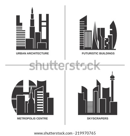 urban architecture vector set