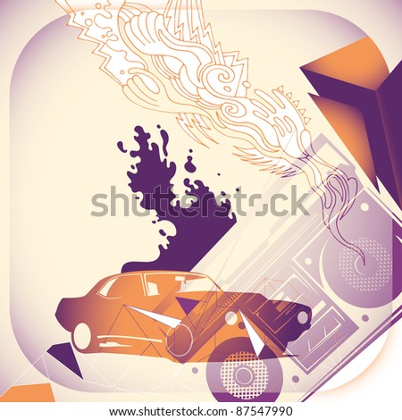 Urban artistic concept. Vector illustration.