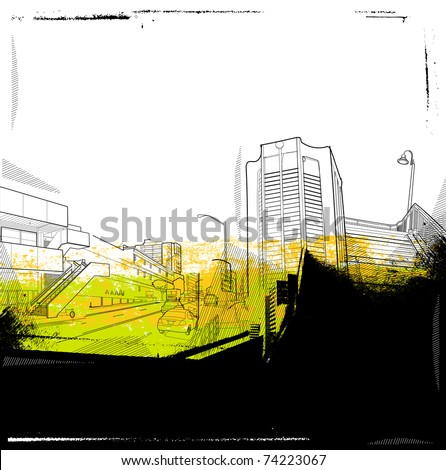 urban background collage