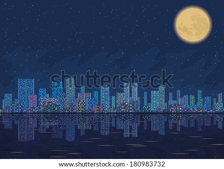 urban background  night