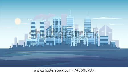 urban background of cityscape