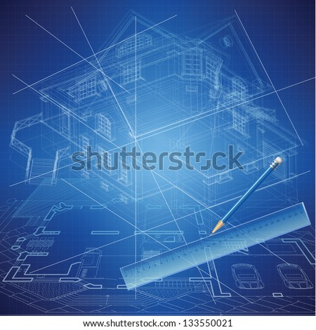Urban Blueprint vector Architectural background Part of architectural project architectural plan technical project construction plan
