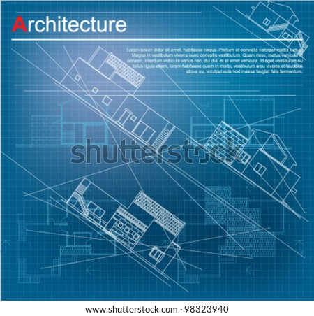 House blueprint and pencil download free vector art stock urban blueprint vector architectural background part of architectural project architectural plan malvernweather Gallery