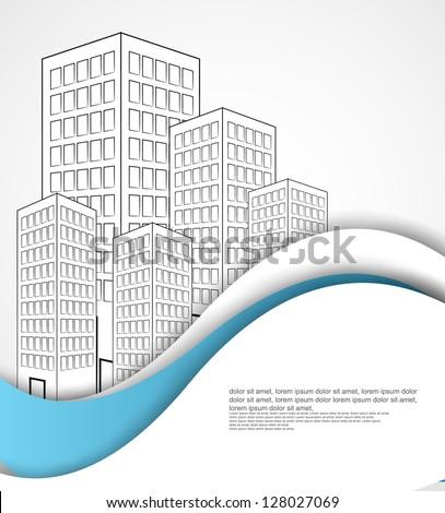 urban city background - stock vector