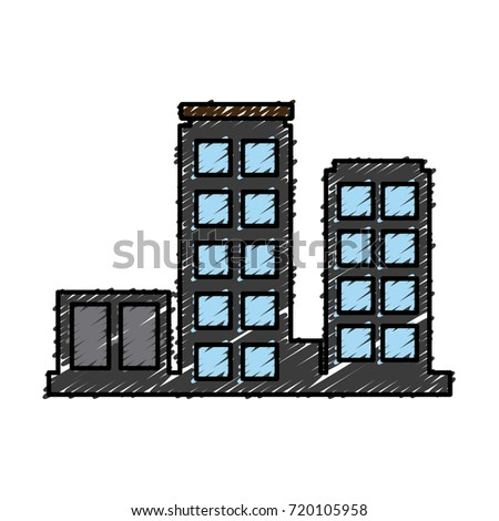 Urban city buildings