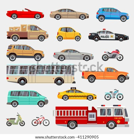 urban  city cars and vehicles