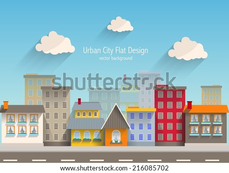 Urban city flat design.