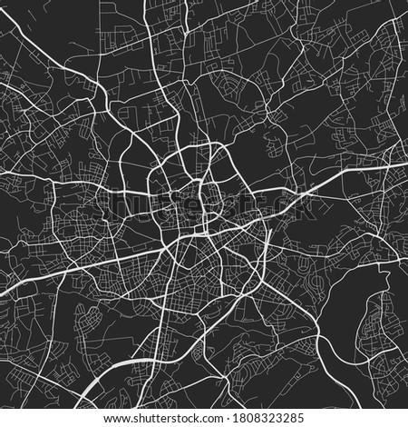 Urban city map of Essen. Vector illustration, Essen map art poster. Street map image with roads, metropolitan city area view. Stock foto ©