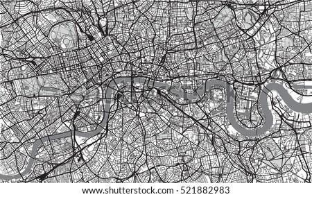 Urban city map of London