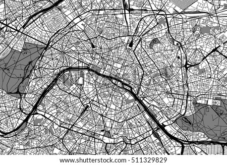 Paris Map Black And White.Paris Map Vector Download Free Vector Art Stock Graphics Images