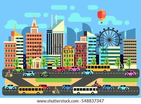 urban  city traffic landscape