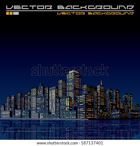 Urban Cityscape Background. 3D Vector Illustration